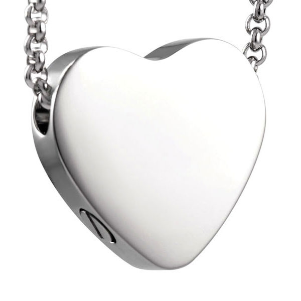 Pendants stainless steel flat heart stainless steel for Stainless steel cremation jewelry