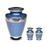 Dark-Blue-Enamel-Urn-Set